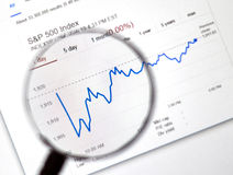 Index de marché boursier de S et de P 500 Image stock