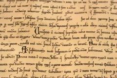 Index des mittelalterlichen Lateins Lizenzfreie Stockfotografie
