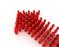 Index die van mensen wordt gemaakt. 3D beeld. Stock Fotografie