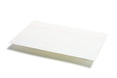 Index File Card Stock Image