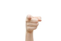 Index finger Stock Photo