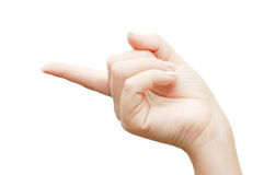Index finger Royalty Free Stock Photo