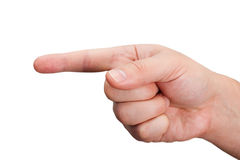 Index finger Royalty Free Stock Image