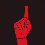 Index finger. Number one sign. Index finger. Forefinger concept. Vector illustration. Element for design Stock Image
