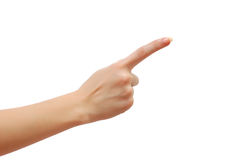 Index finger Stock Photography