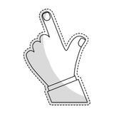 Index finger hand gesture icon image. Vector illustration design Royalty Free Stock Image
