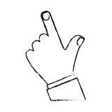 Index finger hand gesture icon image. Vector illustration design Stock Images