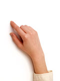 Index Finger pointing Royalty Free Stock Image