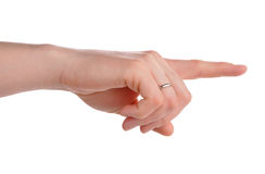 Index finger pointing isolated Royalty Free Stock Photography