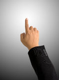 Index finger pointing on round Gradient background Royalty Free Stock Image