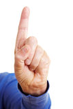 Index finger pointing up Stock Photo
