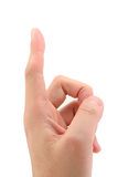 Index Finger pointing up Royalty Free Stock Photos