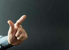 Index finger pressing Stock Photo