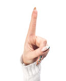 Index finger raised up Stock Images