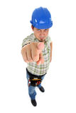 Index finger of Repairman hand Stock Photos