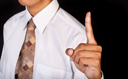 Index finger up Stock Photos
