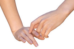 Index fingers of female hands are touching each other Royalty Free Stock Photo