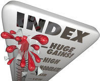 Index Measuring Level Rating Score Comparing Periods Performance stock illustration