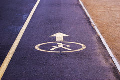 Index of the pedestrian zone on the pavement Stock Photos