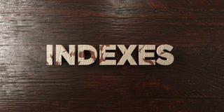 Index - titre en bois sale sur l'érable - image courante gratuite de redevance rendue par 3D Photos stock