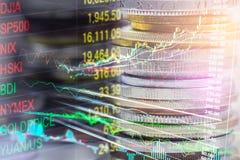 Indexgrafiek van analyse van de effectenbeurs de financiële indicator van leiden royalty-vrije stock afbeelding