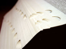 Indexing problems?. A closeup of a big book focusing the index part Stock Photo