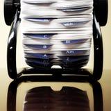 Indexkort av affären Arkivfoto