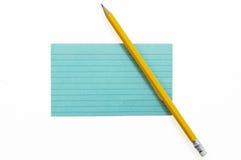 Indexkort med blyertspenna 2 Fotografering för Bildbyråer