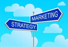 indexmarknadsföringsstrategi stock illustrationer
