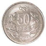 50 Indiër paise muntstuk Stock Afbeeldingen