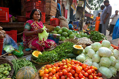 Indiër verkoopt Groente Royalty-vrije Stock Foto's