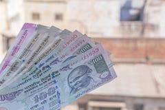 Indiańskiej rupii banknoty obrazy royalty free