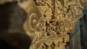Indiańscy architektoniczni cyzelowania wśrodku świątyni zbiory