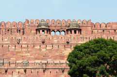 Indiańscy cudowni przykłady architektura - Czerwony fort w Agra Zdjęcie Stock