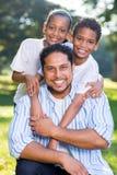 Indiańscy ojców dzieciaki obrazy stock