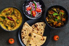 Indiańscy posiłki zdjęcie royalty free