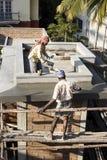 Indiańscy pracownicy budowlani zdjęcia stock