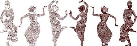 Indiańscy tancerze ustawiający Obraz Stock