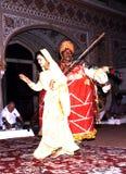 Indiańscy tancerze w Samode pałac zdjęcie royalty free