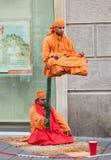 Indiańscy uliczni wykonawcy z zaczyniać przedstawienie zdjęcia stock