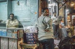 Indiańscy wlaściciele sklepu Obrazy Stock