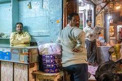 Indiańscy wlaściciele sklepu Zdjęcia Stock