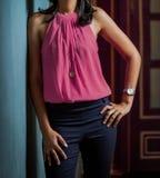Indiańska Arabska Biznesowa kobieta w korporacyjnym ubraniowym ubiorze obrazy royalty free