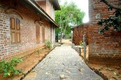 Indiańska ceglana ulica obrazy stock