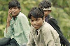 Indiańska chłopiec w wiosce fotografia royalty free