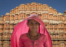 Indiańska dama Jaipur India - - Pałac Wiatry - Fotografia Royalty Free