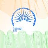Indiańska dzień niepodległości karta Obrazy Stock