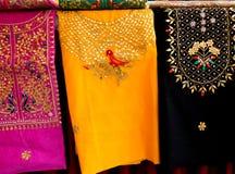 Indiańska Kwiecista broderia na tkaninie obrazy royalty free