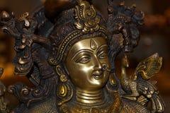 Indiańska mosiężna rzeźby twarz zdjęcie stock