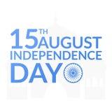 Indiańska niezależności karta Obraz Stock